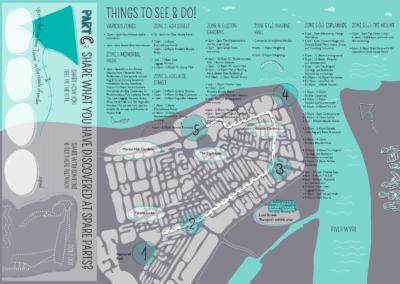 Joonmeedia graafiline disain kujundamine I Spare Parts cover I Spare Parts festival map