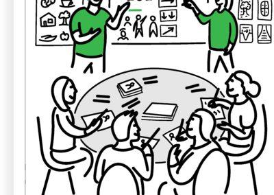 Joonmeedia visualiseerimise koolitus töötuba workshop, Tanel Rannala, Siiri Taimla-Rannala, visuaalne mõtlemine, visualiseerimine, joonistamise nipid trikid, visuaalne mõtlemine, visuaalne juhtimine