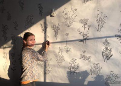 Joonmeedia seinapilt, wall drawing, siiri taimla