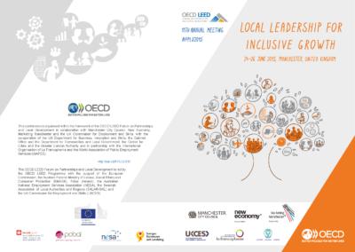 Joonmeedia graafiline disain - OECD LEED publication trükise kaaned