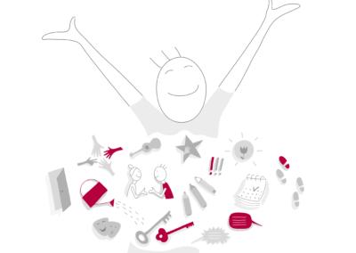 Joonmeedia illustratsioon - Youthpassi kodulehele võimestamine empowerment