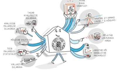 Illustratsioon Eesti Pank pankade pank Joonmeedia