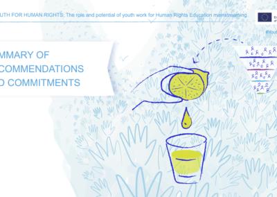 Joonmeedia graafiline disain - Youth for Human Rights konverentsi slaid 3
